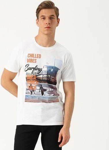 Only & Sons Only & Sons Baskılı Beyaz T-Shirt Beyaz